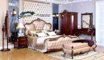 STT-008, Set Tempat Tidur Klasik Jepara, Kamar Set Klasik Jepara, Set Kamar Klasik Jepara, Dipan Kayu Jati