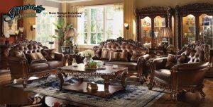 Kursi Sofa Tamu Klasik Mewah Terbaru SST-034