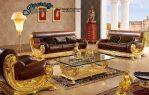Set Sofa Tamu Ukiran Mewah Terbaru Gold SST-047