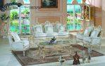 Sofa Tamu Set Putih Mewah Terbaru SST-041