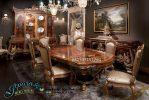 Meja Makan Mewah Jati Terbaru Odessa SMM-060