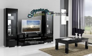 Rak TV Minimalis Hitam Mewah 2016 BT-023