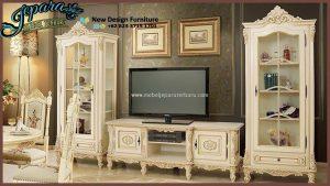 Set Bufet TV Mewah Jepara Terbaru Modern BT-054