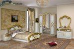 Set Kamar Tidur Duco Terbaru Gold STT-025, Jual Set Kamar Tidur Duco Terbaru Gold, Dipan, Jual Set Tempat Tidur Duco Terbaru Gold