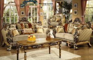 Set Kursi Sofa Tamu Klasik Terbaru Ukiran Murah SST-063
