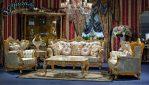 Set Kursi Sofa Tamu Klasik Terbaru Ukiran Murah SST-084