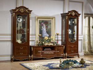 Set Lemari Hias Dan Bufet TV Mewah Klasik Minimalis Jepara BT-025