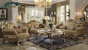 Set Sofa Ruang Tamu Mewah Terbaru Klasik Ukiran SST-069