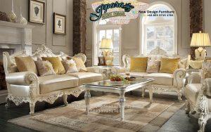 Set Sofa Ruang Tamu Modern Terbaru Klasik Ukiran SST-090