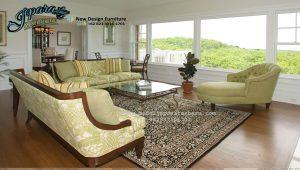 Set Sofa Ruang Tamu Terbaru Modern Minimalis Kayu SST-089