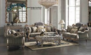 Sofa Ruang Keluarga Klasik Mewah Terbaru SST-079