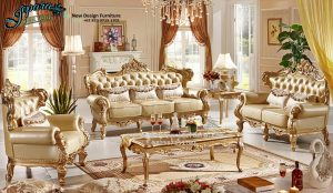 Sofa Ruang Keluarga Mewah Terbaru SST-072