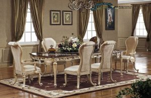 Set Meja Makan Mewah Klasik Kekinian SMM-063