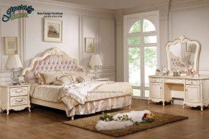 Set Tempat Tidur Jepara Klasik Kerang Terbaru STT-060