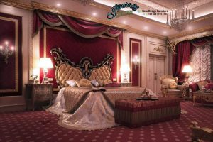 Tempat Tidur Ukiran Kayu Terbaru Mewah Arabic STT-051