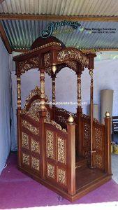 Jual Mimbar Masjid Jati Ukiran Jepara MP-013, Jual Mimbar, Mimbar Ukiran, Mimbar Jepara, Mimbar Mewah