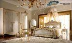 Kamar Set Mewah Ukiran Mawar Terbaru STT-095, Dipan Ukiran, 1 Set Kamar Tidur, Kamar Set Klasik Mewah