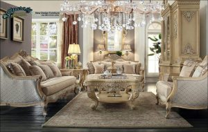 Sofa Tamu Mewah Duco Ukir Terbaru Klasik Jepara SST-126