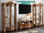 Set Bufet TV Model Jepara Klasik Jati Minimalis Terbaru 2018 BT-093