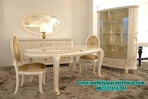 Set Meja Makan Klasik Duco Putih SMM-117