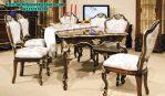 Set Meja Makan Klasik Kayu Ukiran SMM-123