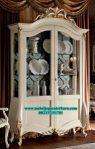 lemari pajangan kaca klasik duco modern kekinian lh-023