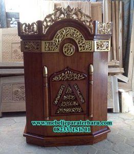 masjid mimbar jati ukiran jepara mp-014