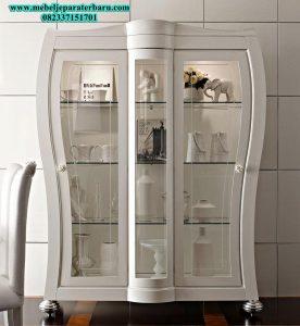 model lemari kristal hias kaca duco italia modern mewah lh-019