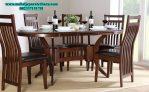 set meja makan 6 kursi minimalis jati jepara model klasik modern smm-126