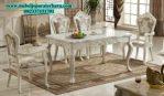 set meja makan mawar klasik modern duco smm-131