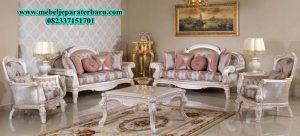 set sofa ruang tamu lexa modern mewah model terbaru ukiran sst-155