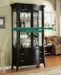 model lemari hias corio klasik minimalis hitam terbaru jepara lh-027