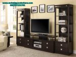 set bufet rak tv hitam modern mewah minimalis model terbaru bt-106