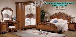 set kamar tidur klasik mewah modern guison ukiran jepara model terbaru stt-113