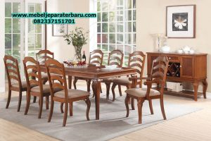 set meja makan klasik jati jepara minimalis model terbaru smm-143