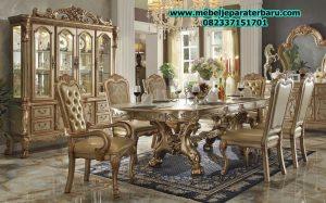 set meja makan klasik mewah gold ukiran model eropa terbaru smm-140