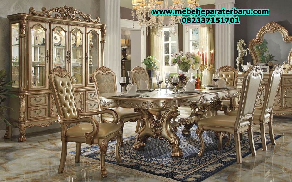 set meja makan, set meja makan klasik, set meja makan mewah, set meja makan modern, set meja makan ukiran, set meja makan model terbaru, set meja makan jepara, set meja makan duco, model set meja makan, set meja makan minimalis