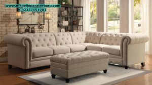 set sofa tamu sudut modern minimalis kayu mewah model terbaru sst-163