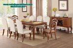 harga set meja makan klasik minimalis kayu jati jepara model terbaru smm-150