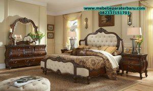 jual set kamar tidur klasik terbaru jepara model elegant kekinian stt-118