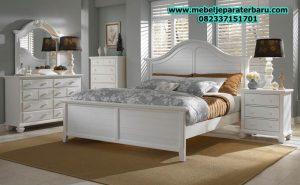 jual set kamar tidur minimalis duco putih broki model terbaru jepara stt-114