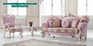 jual set sofa tamu klasik mewah adzis modern ukiran jepara duco model terbaru sst-166