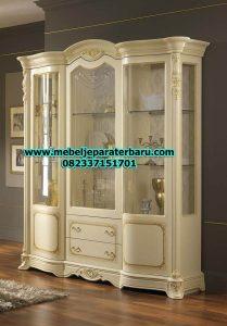 model lemari hias kristal duco modern mewah terbaru lh-032
