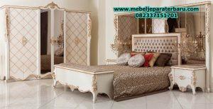 model set kamar tidur klasik mewah modern duco putih terbaru conrad stt-117