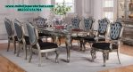 model set meja makan 8 kursi klasik silver terbaru smm-151