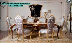 model set meja makan klasik bolero 6 kursi ukiran jepara smm-148