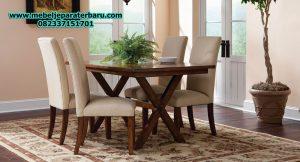 set meja makan 4 kursi minimalis modern model terbaru mewah sst-152