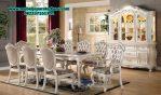 set meja makan 8 kursi model klasik mewah modern terbaru smm-147