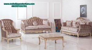 set sofa tamu modern ukiran jepara model klasik mewah minimalis terbaru sst-171