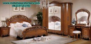 1 set kamar tidur model klasik jati terbaru stt-121